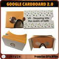 2017 custom assembled virtual reality 3d google cardboard for smartphone