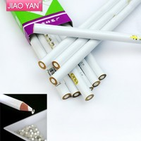 Wholesale White Color Nail Art Designs Rhinestones Gems Picking Pen #4402