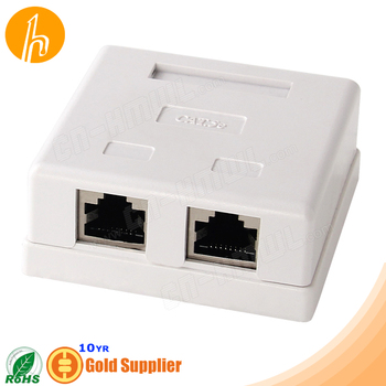 Shielded Cat.5e Surface Mount Box