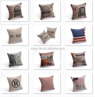 China Supplier Linen Cotton Home Decor 40x40cm Cushion Pillow Cover