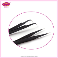 Stainless steel tweezers for eyelash extension