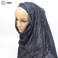 best selling products lurex crinkle scarf malaysia instant hijab muslim in 12 colors