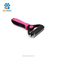 Wholesale price pet dematting comb for bathing grooming ,self cleaning dog hair brush