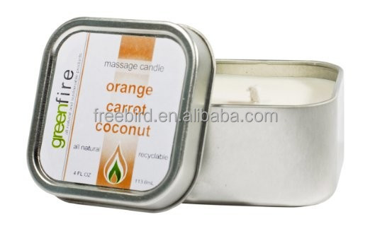 Orange Carrot Coconut Organic Scented Pure Soy Wax Essential Oil Candle