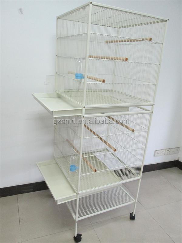 New Design Double Stackable White Large Metal Bird Cage Breeding