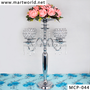 Beautiful crystal wedding centerpieces wedding candelabra decoration for party&home&hotel decoration (MCP-044)