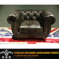 Antique wooden button back sofa set designs/Classic retro genuine leather sofa