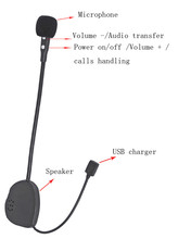 high quality DK-01 Mono bluetooth earphone for motorcycle/bike Helmet