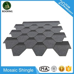 Mosaic asphalt roofing shingles prices,asphalt shingle roof with high quality