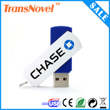 Promotion Gift Swivel Shaped USB Flash Drive Pendrive Memory Stick Mini Pen Drive with Custom Logo