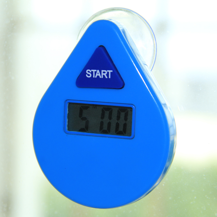 Waterproof 5 minutes digital countdown shower timer with sucker