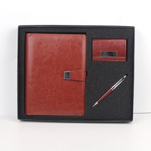 School exercise hard cover note book with pen and name card holder