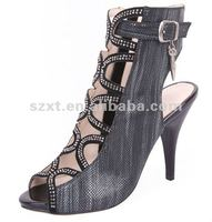New style! Sexy lady high boots diamonds design pumps sandals shoe XT-SF304