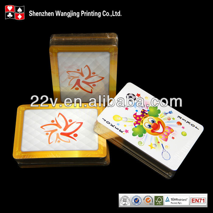 gold edge playing cards, gold edge poke cards with good quality & pro service