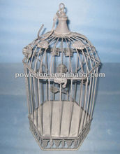 Shabby chic wrought iron bird cage materials