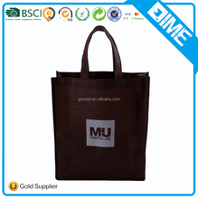 large durable brown color grocery customized non woven shopping bag
