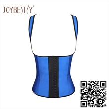 Women's Classic 3 Hooks Latex Trainer Shapewear Workout Waist Cincher Vests and Corsets