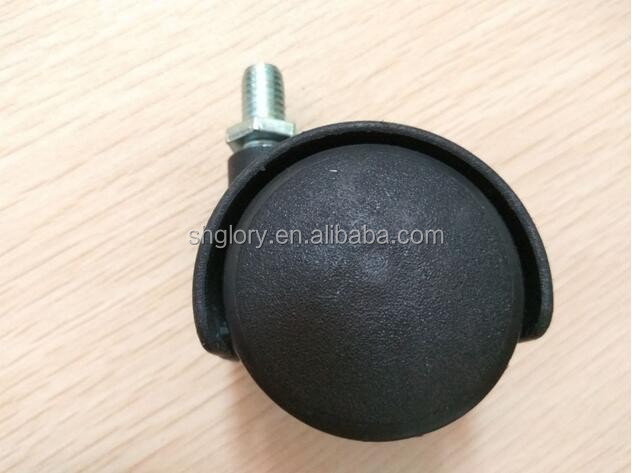 furniture office plastic 1 inch heavy duty castor wheel