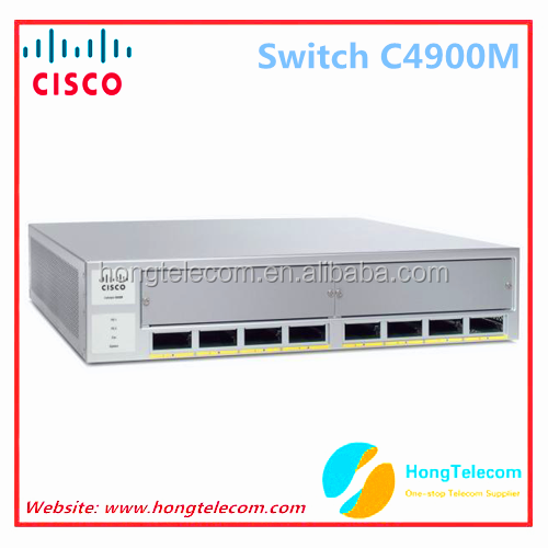 Original CISCO WS-C4900M Base system with 8 X2 ports and 2 half slots fiber optic switches
