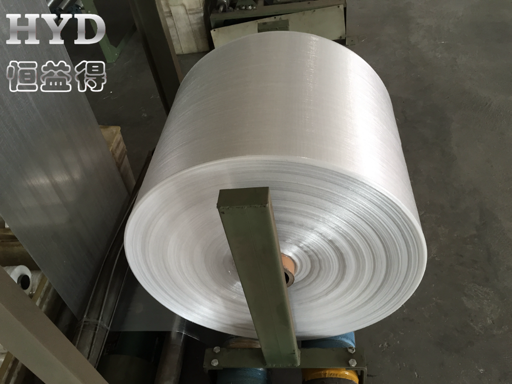 PP woven tubular fabric roll for making bags