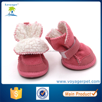 Lovoyager Lovely Warm Lamb Wool Small Dog Winter Boots for Snow Dog Shoes