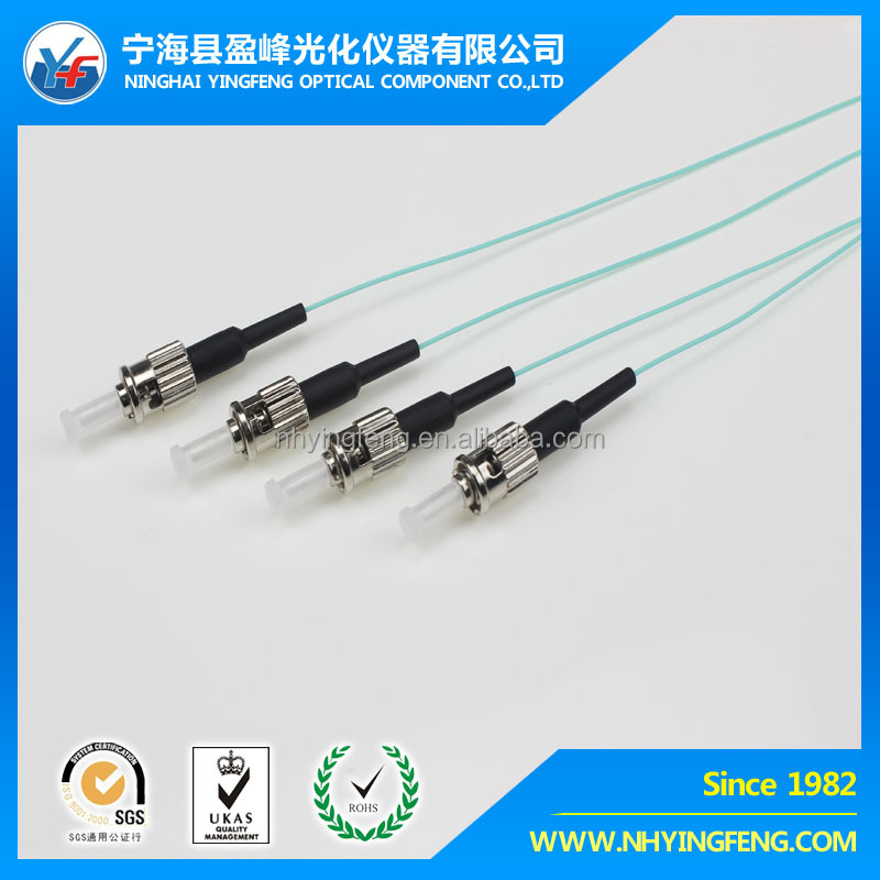 low price ftth alibaba express china price list Pigtail LSZH Simplex ST-ST OM3 0.9mm Optic Fiber Patch cord/fiber pigtail
