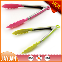 silicone kitchen bbq scissor tongs