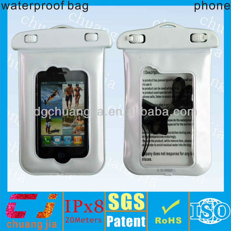 2015 waterproof case for iphone 4/4s, cute plastic mobile phone case for fishing