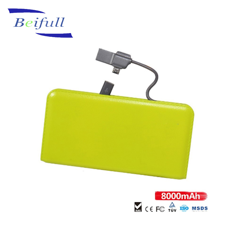 Manufacturer directly offer CE ROHS FCC MSDS power bank 8000 mah
