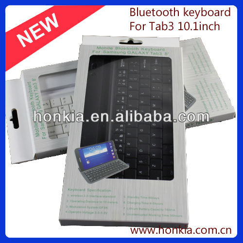 MINI Bluetooth Keyboard case for galaxy tab3 8.0inch with Multi-Languages