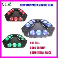 Kaos Adj 9x10W 4in1 led spider beam moving head with 3 head moving bars