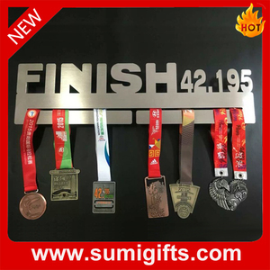 Cheap Customized Sports Stainless Steel Metal Medal Holder Medal Hanger Display Manufacture Racing Running Marathon Medal hanger