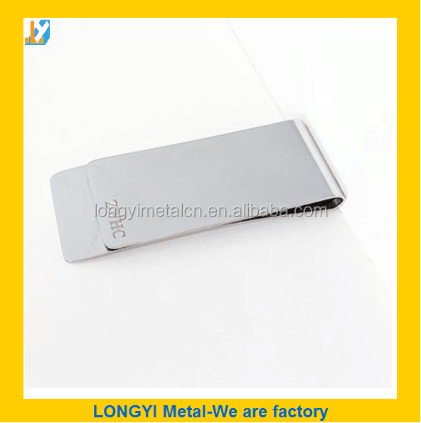 Blank Stainless Steel Money Clip