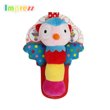 Cheap china animal soft toy baby rattle toys