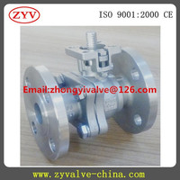 2PC Cangzhou supply 316 stainless steel Flanged ball valve