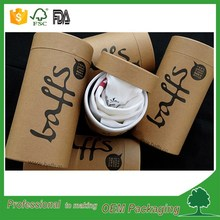 Kraft paper tube for T-shirt, jeans, clothing 2mm thickness cardboard t shirt tube craft T-shirt packaging tube natural round bo