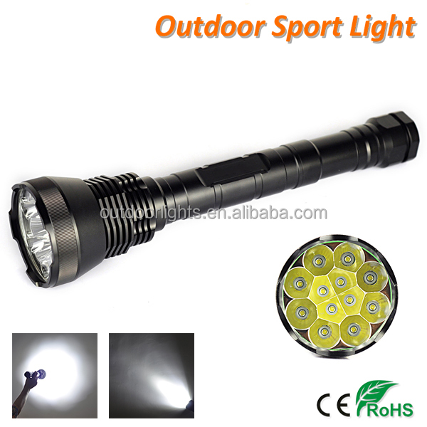Super Bright Flashlight 18pcs CREE MX-L T6 22000lm The Most Powerful LED Torch Light