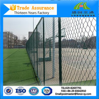 Cheap weave fabric galvanized chain link fence