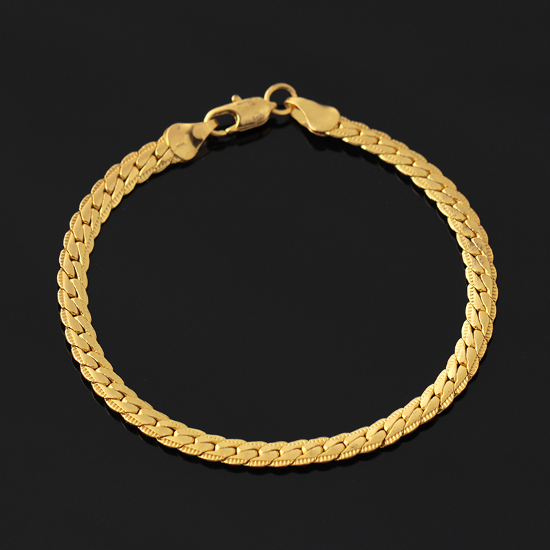 Wholesale Christmas fashion bracelet jh 18k gold plating copper chains <strong>jewelry</strong>