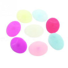 Hot Oval Makeup Brush Cleaner Face Wash Brushes Soft Silicone Facial Brush Cleanser