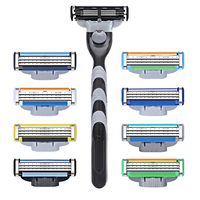 Manufacture Price No Disposable 3 Blades Razor Blade For Men Personal Care Lubrication Strip Imported Stainless Steel Blade