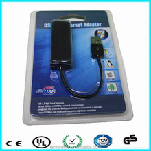 USB 2.0 Ethernet 10/100 Network LAN RJ45 Adapter Card Blue