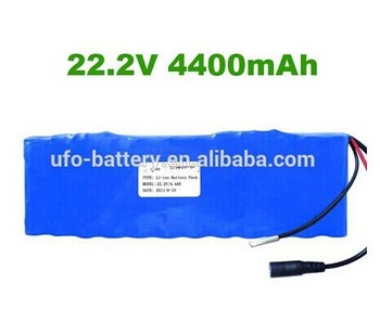 Battery powered air fresheners high capacity 18650 6s2p 22.2v 4400mah li ion polymer battery pack