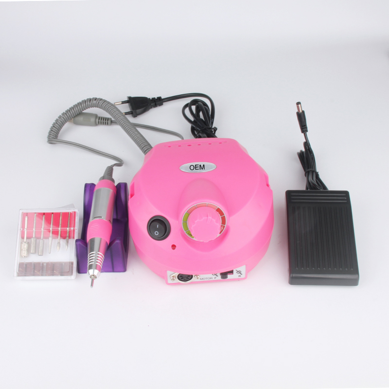 China wholesale cheap nail equipment 25000 rpm motor electric nail drill machine with nail drill bits