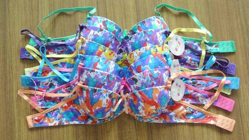 In stock bra south america bras sexi girl wear bra printed underwear factory in China 104-158