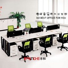 Modern design open office workstation acrylic table top partition