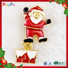 2015 New Fashion Simple Dancing Santa Claus Brooch for Christmas