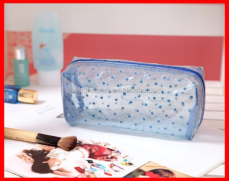 New products cheap PVC clear zipper washing bag