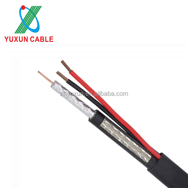 YUXUN Coaxial RG59 Siamese Kabel For CCTV Security Camera