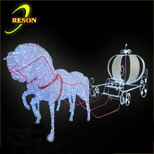 christmas decorative outdoor christmas pumpkin horse carriage